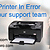 Remove the HP Printer in Error State issue with our support team