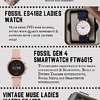 Infographic on female wristwatches