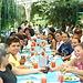 Compartiendo un almuerzo en Cachi de Cartago