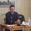 Preaching at Deer Lake's local tv/radio station