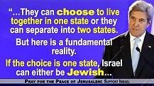 Kerry Threatens Israel: Stop Being Jewish Or Stop Being A Democracy