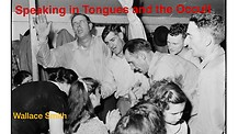 Speaking in Tongues and the Occult