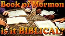 The Bible Vs. The Book of Mormon